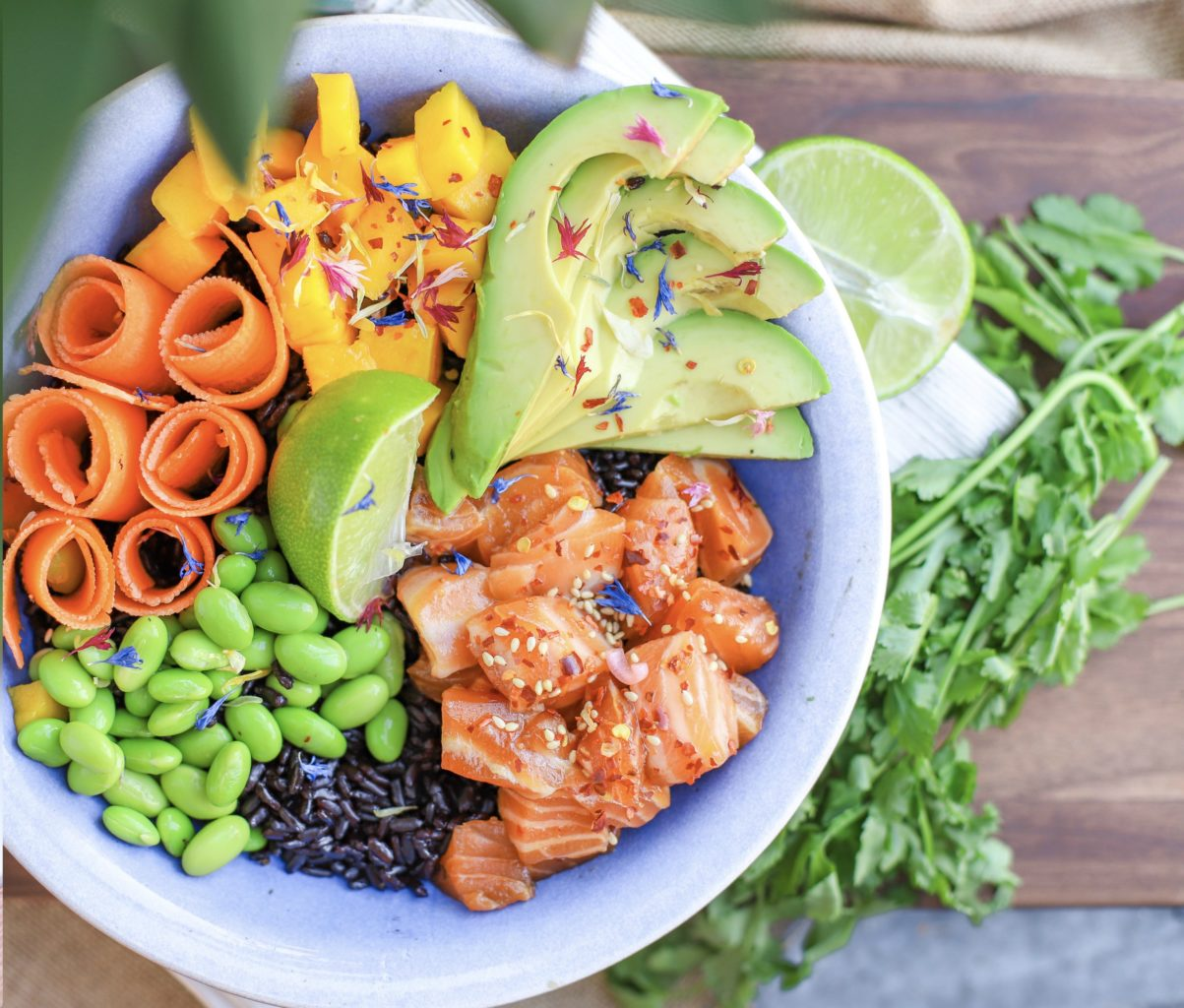 The Healthiest Salmon Poké Bowl